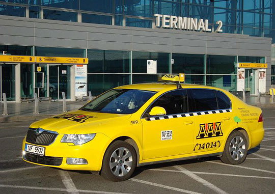 Praag_taxi-luchthaven