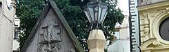 kubistische lantaarnpaal praag