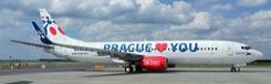 Met het vliegtuig naar Praag